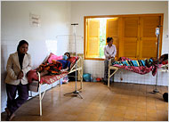malaria ward in Cambodia