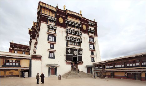 At the Potala Palace in Lhasa, the Tibetan capital, images of the exiled Dalai Lama have been banned.